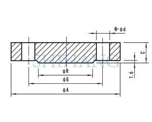 drawing of copper nickel flanges BLIND FLANGE