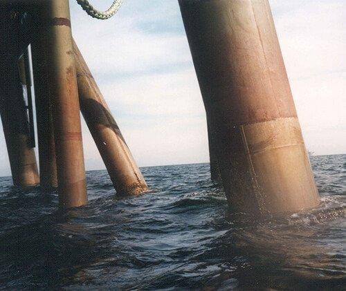 Cupronickel pipe in sea water