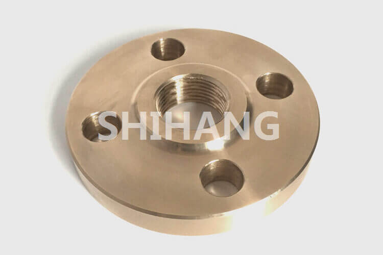 Threaded copper nickel flanges