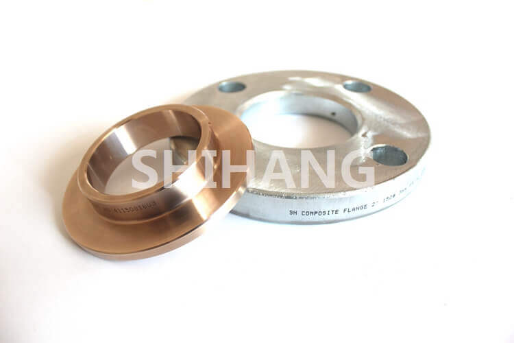 Composite slip on flange