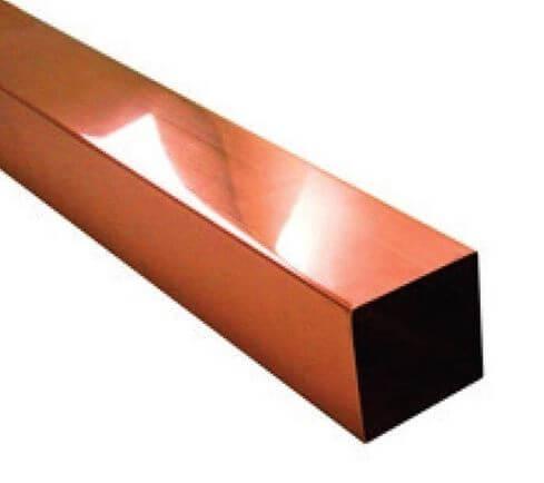 Rectangular copper nickel tube