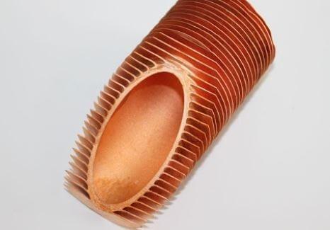 Fins increasing surface of copper nickel pipe heat exchanger