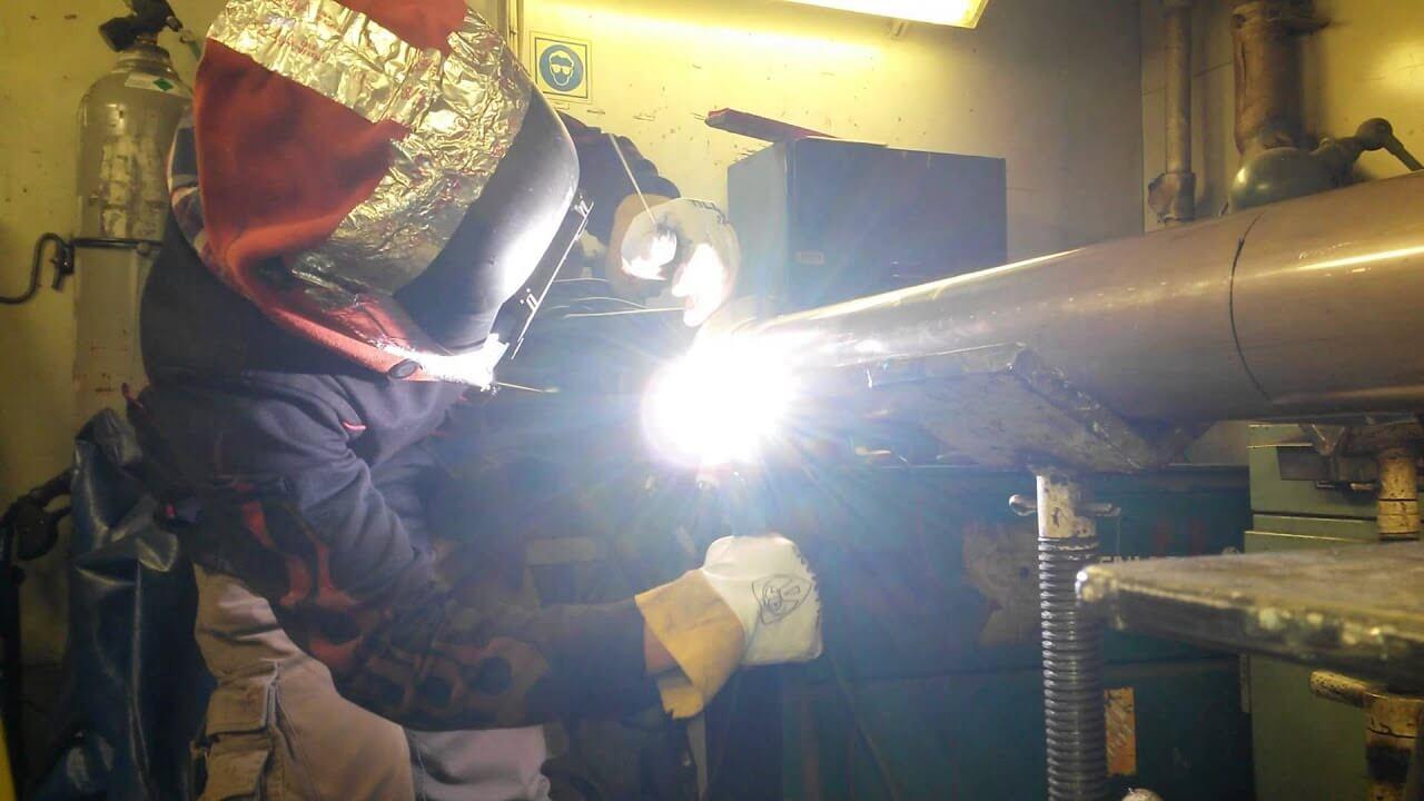 Welding copper nickel tube