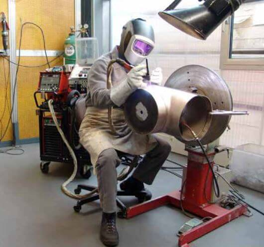 Welding copper nickel tube