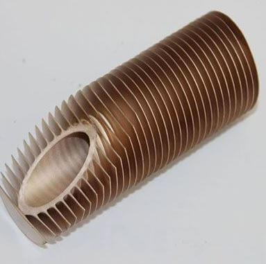 Finned copper nickel tube
